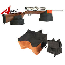 600D Tactical Hunting Rifle Gun Target Stand Gun Front Rear Bench Rest Bag Black