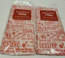 "Seasonal Words 40 Sheets Christmas Holiday Wrapping Gifting Tissue Paper 20""x20"""