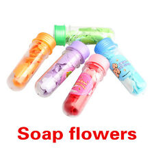 1PCS Bath Body Soap Rose Petal Flower Soap Wedding Party Gift Favor Scent Colors