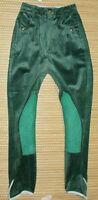 %% Damen Reithose KENTUCKY Kniebesatz ECHTLEDER grün Cord Winter 72 34 UVP122€