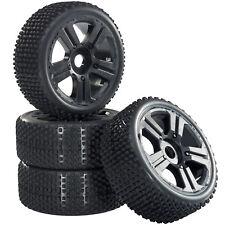 Buggy Neumáticos Set de Llantas Hunter con 5-Speichenfelge Negro 1:8 4 Piezas