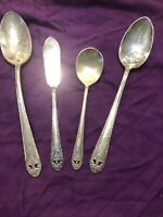 Holmes Edwards Lovely Lady 4 Serving Pieces IS Silverplate Flatware