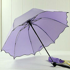 Sale Sun/Rain Umbrella Womens Ladies Compact Folding Windproof Anti-uv Sun Rain