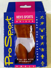 Prosport Mens Sports Briefs Football Rugby Hockey Youths S M 28 30 32 34 White