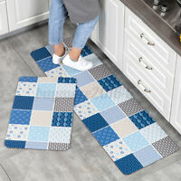 Home Kitchen Floor Mat Non Slip Runner Anti Fatigue Rug Set Door Decoration a