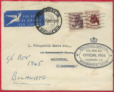South Africa 1955 3d rate Air Mail Cover Cape Town to Salisbury RD to Bulawayo