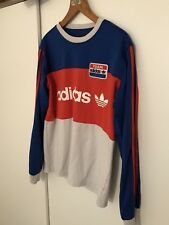 Rare Adidas Team Number 1 Long Sleeve Top In British Olympic Colours Medium