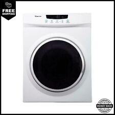 Magic Chef 3.5 cu ft Compact Dryer White Stainless Steel Tub See Through Window