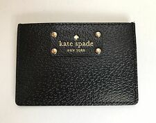 Kate Spade Wellesley Black Leather Card Case Wallet New with Tags