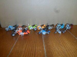 MATCHBOX/HOTWHEELS DIECAST HARLEY DAVIDSON MOTORCYCLE'S  LOT OF 10 PCS.