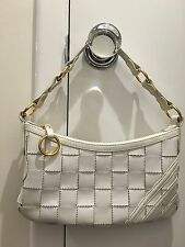 Rare White Leather Trefoil Adidas Basket Weave Bag