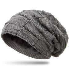 b2dfdfd3d326 CASPAR Damen Herren Beanie Winter Mütze warm gefüttert mit Flecht Muster