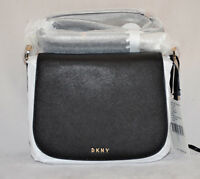 $278 DKNY Bryant Park Saffiano Leather Messenger Flap Bag Purse Crossbody New