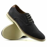Mens Casual Smart Boat Deck Memory Foam Walking Oxford Denim Lace Up Shoes Size