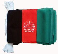 AFGHANISTAN 3 METRE BUNTING 10 FLAGS flag 3M AFGHAN KANDAHAR KABUL HELMAND