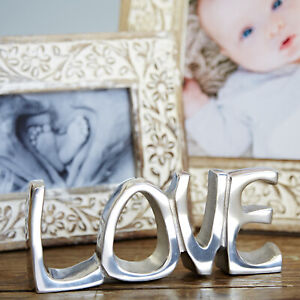 LOVE Decorative Sign Handmade Recycled Steel Ornament Wedding New Home Gift