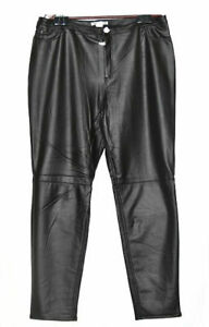 K. Jordan Women's Faux Leather Legging in Black, Plus Size 3X