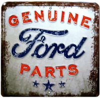 Genuine Ford Parts Vintage Style Embossed Metal Signs Man Cave Garage Shop Decor