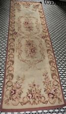 "Aubusson Style Hand Knotted Wool Rug 8' x 2'6"" Runner"