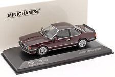 BMW 635 CSI (E24) Baujahr 1982 dunkelrot metallic 1:43 Minichamps