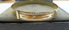 New 9ct Solid Gold Ladies Patterned Expanding Bangle 7.4 grams