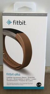 BRAND NEW SEALED OEM Original Fitbit Alta Leather Accessory Band Camel LARGE L