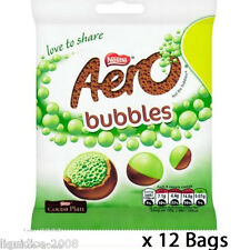 AERO BUBBLES MINT CHOCOLATE CASE OF 12 PACKETS of SWEETS WHOLESALE TREATS 128675