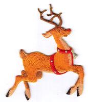 REINDEER CHRISTMAS LARGE Iron On Patch Holiday Santa Animals