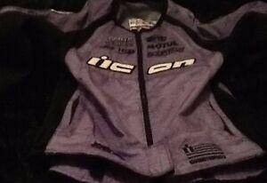 Icon Motosports Stage 2 Merc Jacket Women's Purple Motocross Racing  Sz Xs