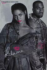 RIHANNA & KANYE WEST - A3 Poster (ca. 42 x 28 cm) - Clippings Fan Sammlung NEU