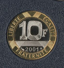 TOP RARE MONNAIE DE 10 FRANCS GENIE BASTILLE BELLE EPREUVE 2001 FDC @ BE @ TOP