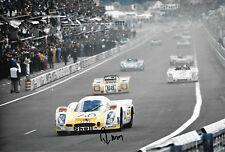Reinhold Joest SIGNED 12x8  Jo Siffert Racing Porsche 908L  Le Mans 24hrs 1972