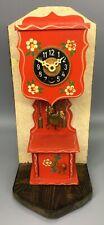 Josef Hauser Miniature Grandfather Clock With Decorative Stand