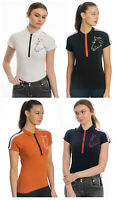 Horseware Ladies SPORTY FLAMBORO Short Sleeve Cotton Polo Top AllColours XXS-XXL