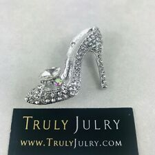 Diamante Stiletto Brooch Jewellery Accessories Uk Brooch Womens Vintage style