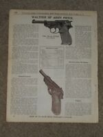 Original 1940 Walther HP Army Pistol 9mm Luger AD Catalog Page