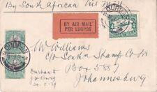 South Africa 1929 First Flight Return Durban to Johannesburg
