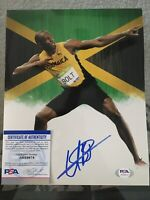 Usain Bolt Signed 8x10 Photo 9x Gold Olympian Beijing London Rio PSA/DNA