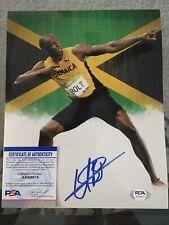 Usain Bolt Signed 8x10 Photo 9x Gold Olympian Beijing London Rio PSA/DNA