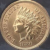1880 INDIAN HEAT PENNY  SOME DIAMONDS ***BEAUTIFUL COIN***Cleaned