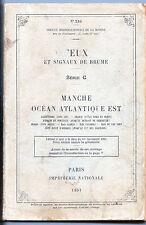 Feux et signaux de Brume - Manche Océan Atlantique Est - 1951