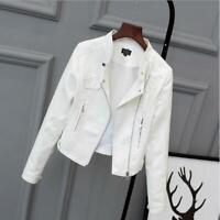 New Spring women short leather clothing female PU motorcycle leather jacket coat