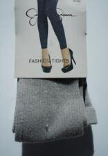 Jessica Simpson  Fashion FootlessTights Sz S / M Silver Sconce Cotton Blend