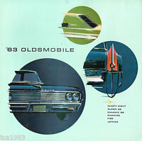 1963 OLDSMOBILE Full Line Brochure / Poster: Jetfire,Starfire,88,F-85,Dynamic 88