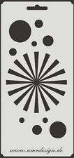 Scrapbooking Schablone S-146  Kreis Strahl ~ Stencil ~ UMR-Design