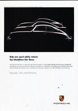 2002 Porsche Cayenne 356 959 911 Silhouette -  Vintage Advertisement Ad A37-B