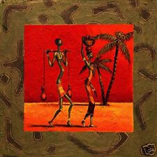 AFRICAN AMERICAN ART PRINT 28x28 - Sun Tribe I by KAMBA
