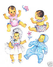 "1493 Vintage Baby Doll Pattern - Size 15"" -Year 1949"