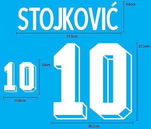 STOJKOVIC' #10 YUGOSLAVIA HOME World Cup 1994 VELVET FLOCK NAME NUMBER PRINT