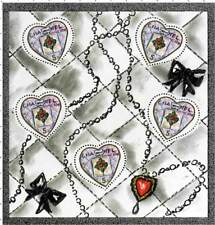 Postage Stamp sheet :  CHANEL / HEARTS : VALENTINES NEW  2004 / France 5 Stamps